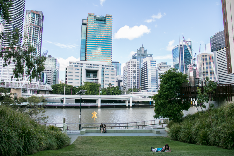 Experience Brisbane like a local by enjoying a lazy picnic on the grass next to GoMA