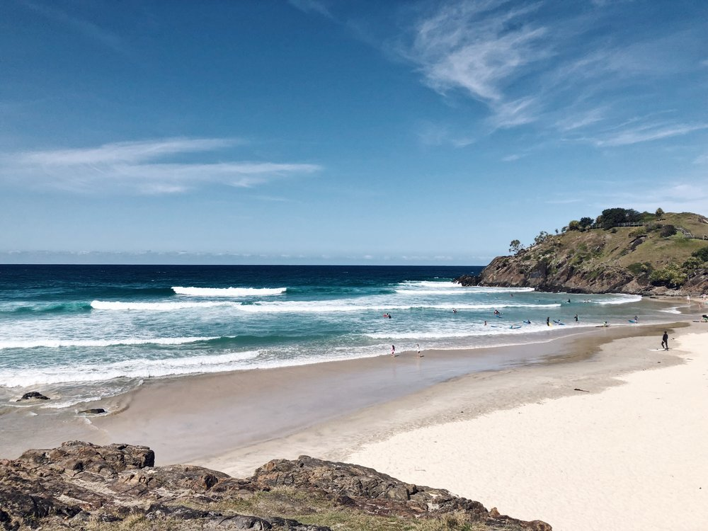 The beautiful bays at Cabarita Beach and Norrie's Headland