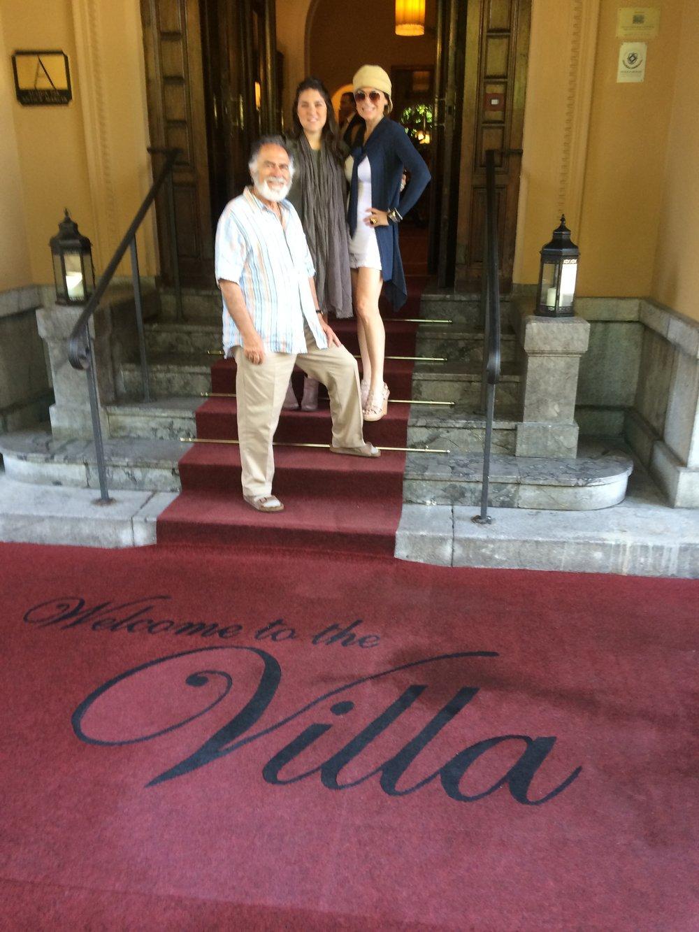Palermo, Sicily - Dad, Bianca and I - Villa Igiea