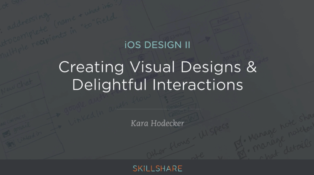 iOS Design II: Creating Visual Designs & Delightful Interactions