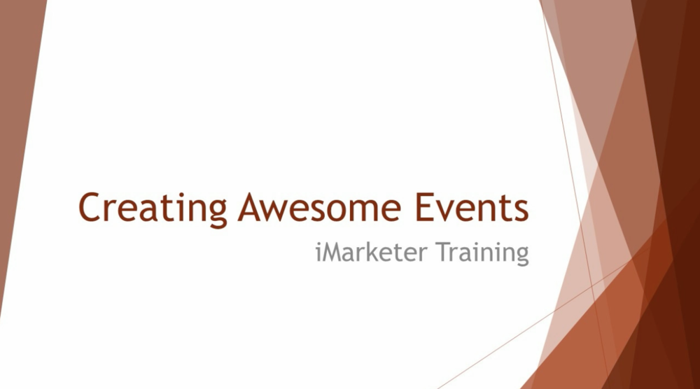 Creating Awesome Events
