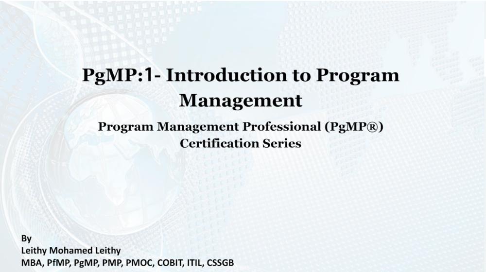 Introduction to Program Management