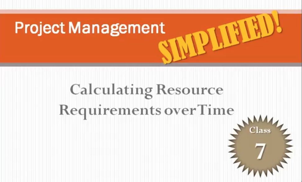 Project Management SIMPLIFIED - Calculating resources & Assess & Mitigate Risks - Class 7 & 8 of 12