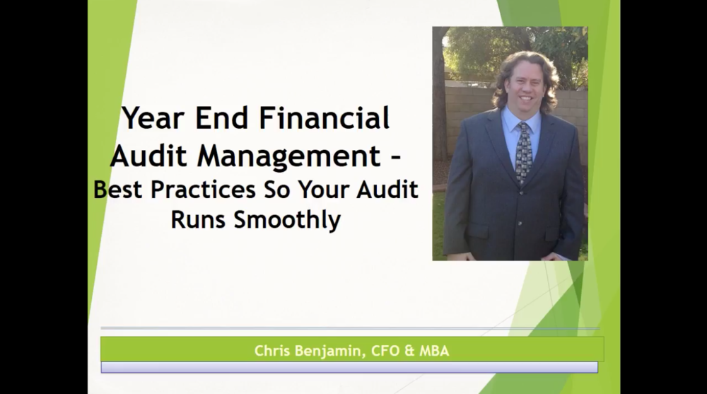 Managing Your Year End Audit Successfully
