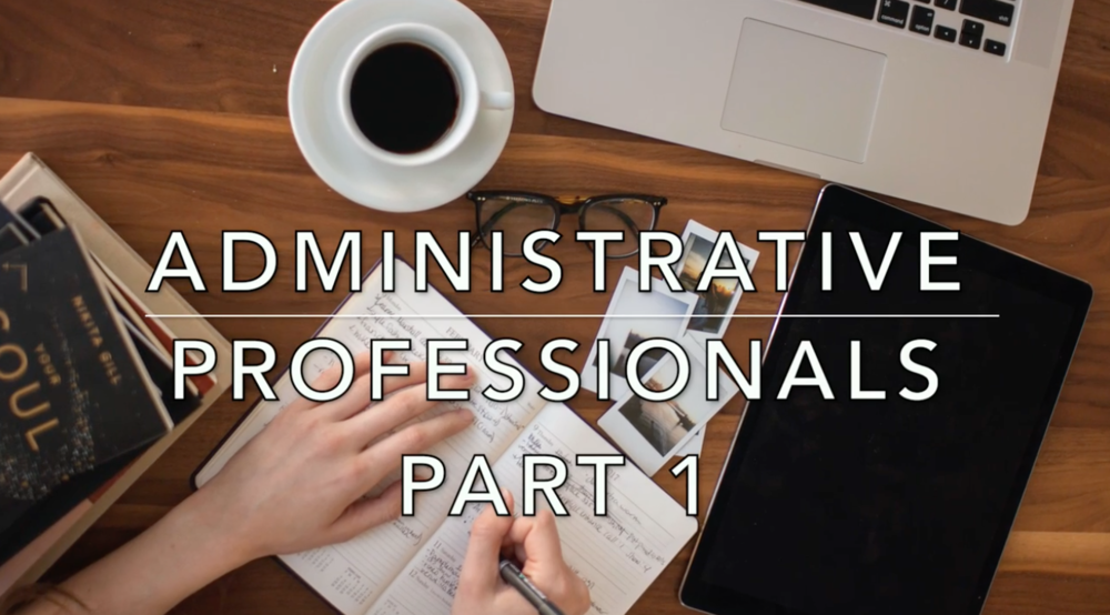 Introduction to Administrative Professional Jobs