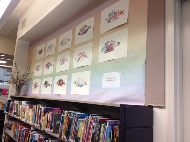Thanks to Bob Prittie Metrotown Library for displaying our fish prints in their children's book section!! Beautiful!!