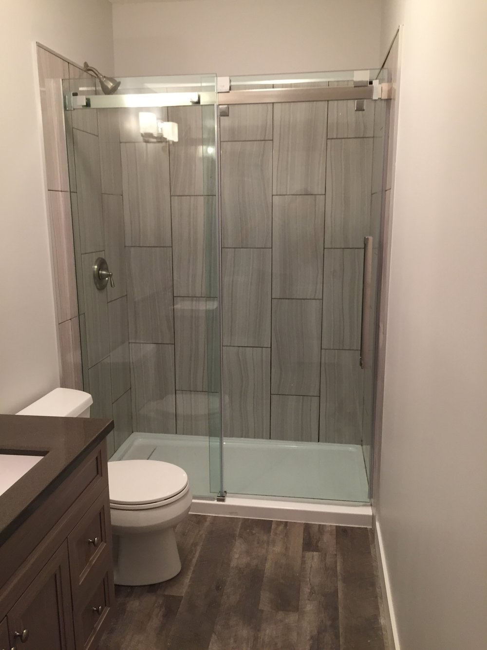 Basement bathroom reno