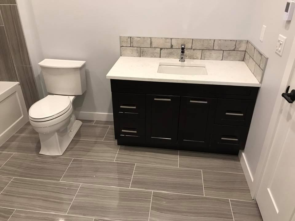 basement bathroom vanity renovation