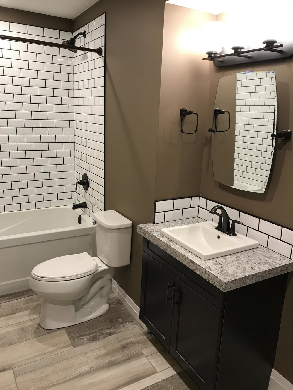 basement bathroom development in Copperwood Grande Prairie
