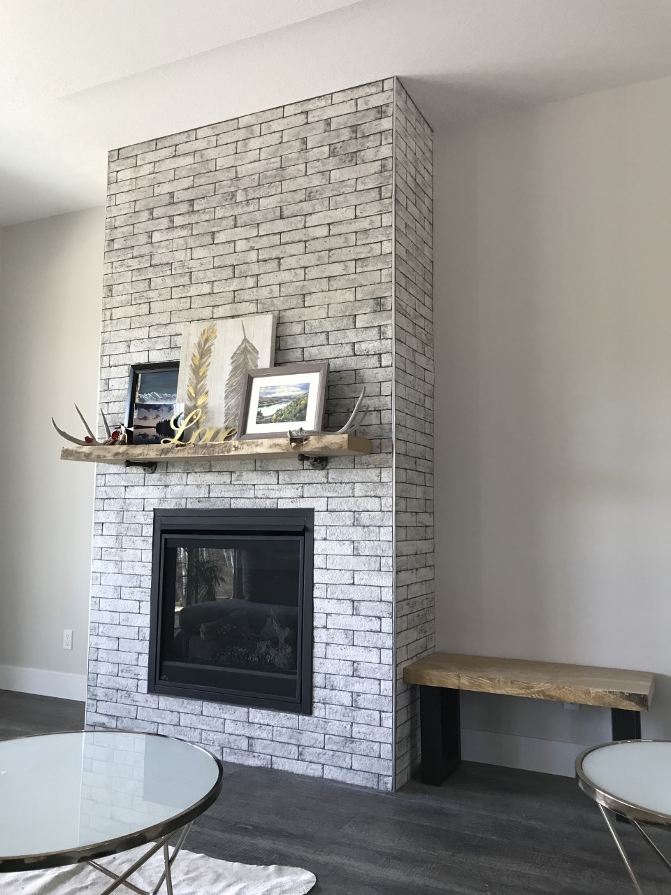 custom tile fireplace