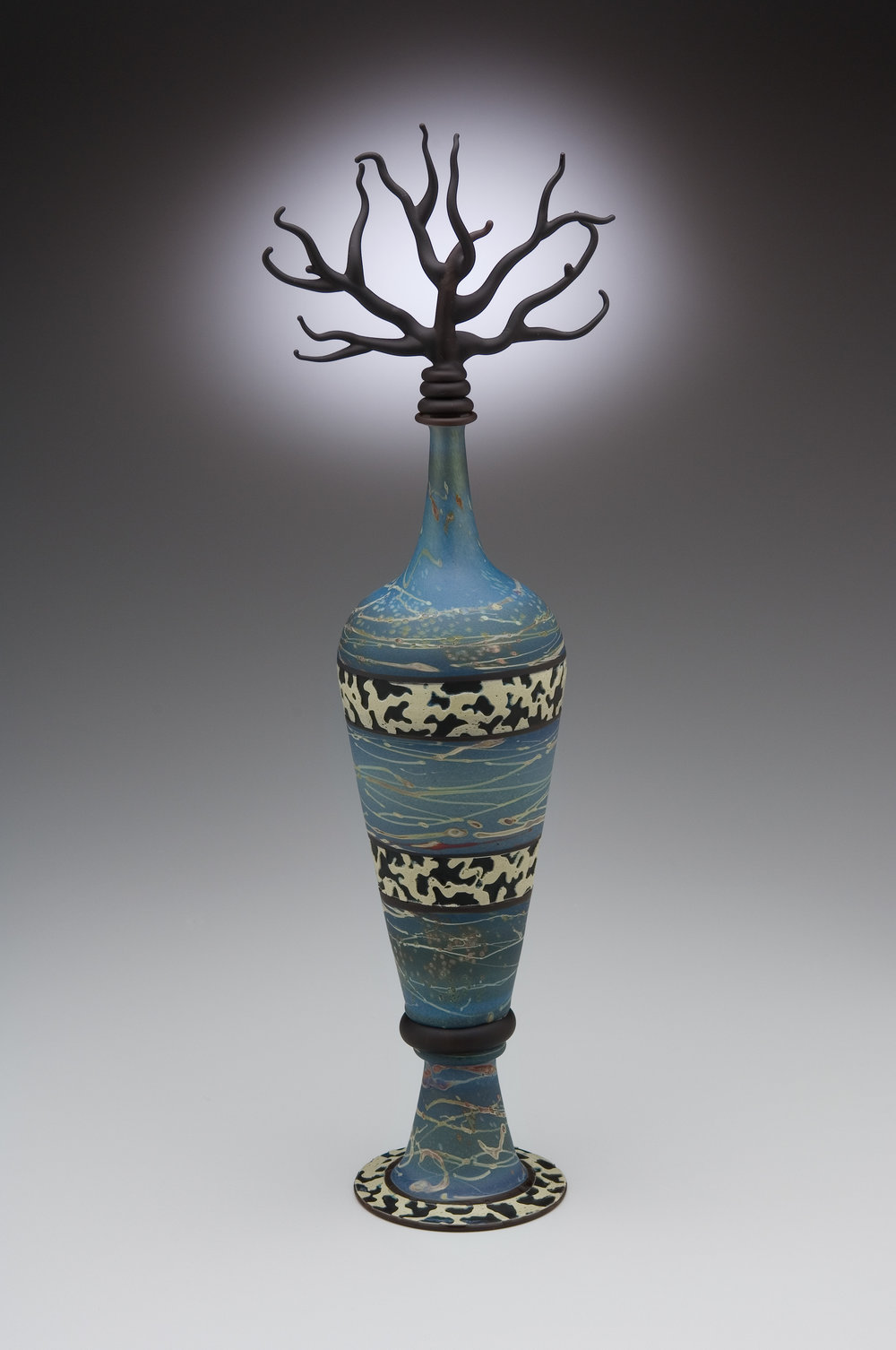Blue Tree Branch Bottle