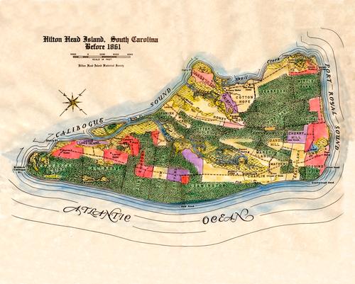 Map of Hilton Head Island, pre-1981