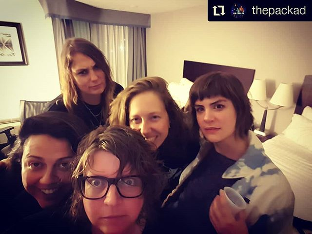 Reminiscing on the tour we did in the fall with these legends, @thepackad! Take us back!! #canadiantour #landline #crosscountry #lifeisahighway #roadtrip #rocknroll #canwequitourjobsyet  #Repost @thepackad • • • #fbf Last Fall we did a tour with our pals @landlinevancity and @brotherobrother_. Don't let all their attractive mugs fool ya. They are ruthless. Check them out, follow them, and support them. Hearts. #thepackad #wokeupweird #thefutureisfemale