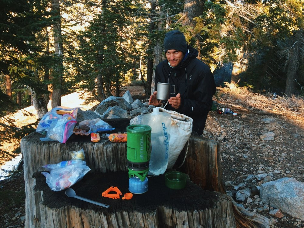 Cooking at least 200 yards away from where you are camping in clothing you will not be sleeping in is always a good practice. Scent-proof bags and a kevlar sacks pictured above also help keep critters away.