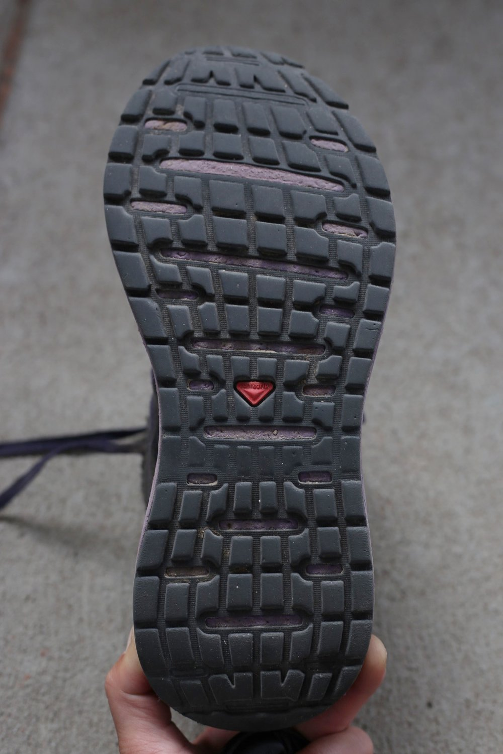 Tread of M.E.'s shoe after 750 miles on the CDT.