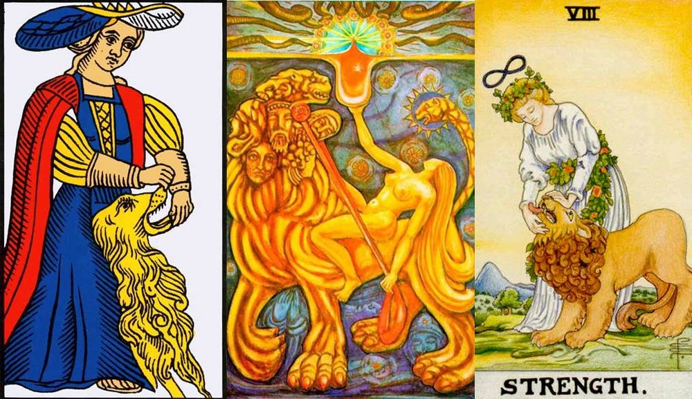The Strength card is the card which indicates Leo. The Fixed fire sign, and the glory of the sun.