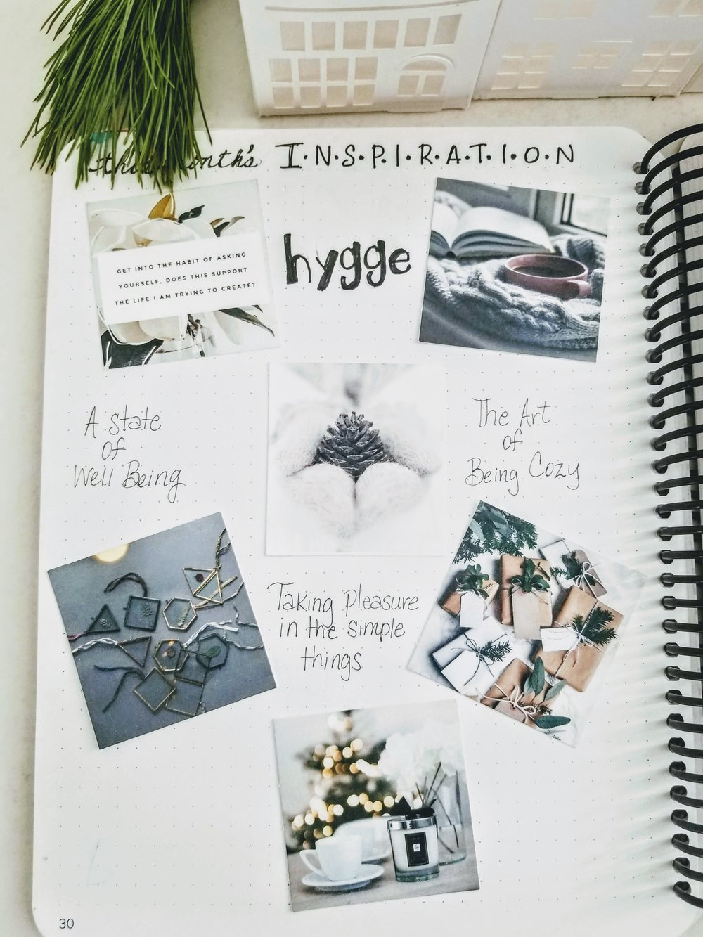 I started with creating a  Pinterest  board to collect images to visually define my theme. I then, printed some of the pictures to include in my journal.
