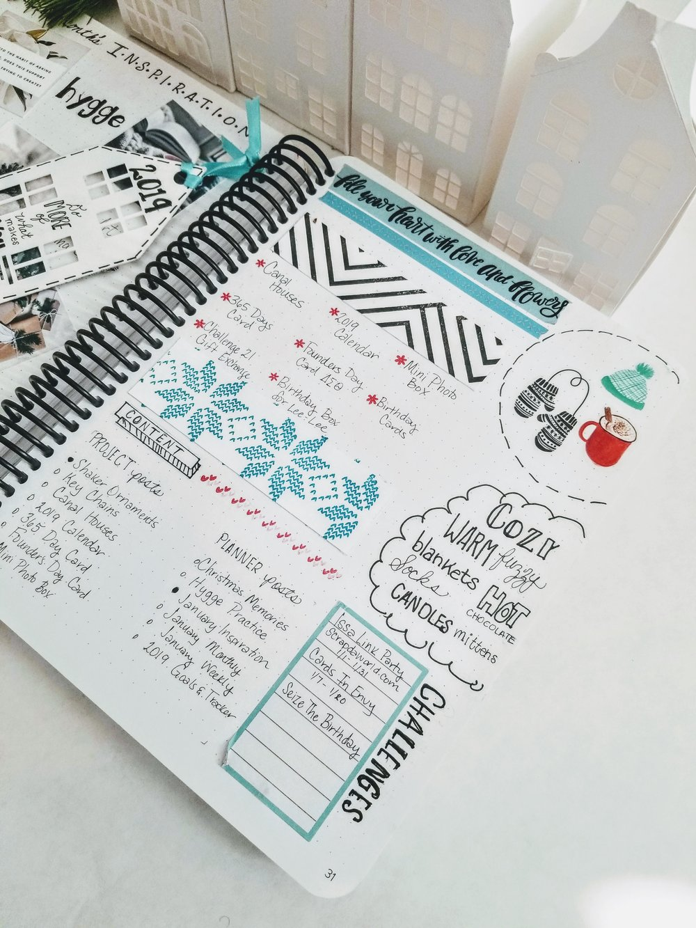 I also use this page to plan for my crafts, content, and challenges.