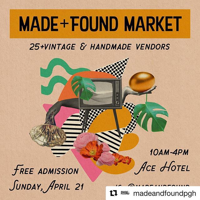 Come see us this Sunday at the Ace Hotel for your spring plant fix 🌿❤️☀️ #Repost @madeandfoundpgh with @get_repost ・・・ If you're looking for a fun and FREE Easter Sunday activity.... 👋🏻👋🏻👋🏻 we are kid (and dog!) friendly 🐰 💐 👒 🍬 (flier by @themedialuna)
