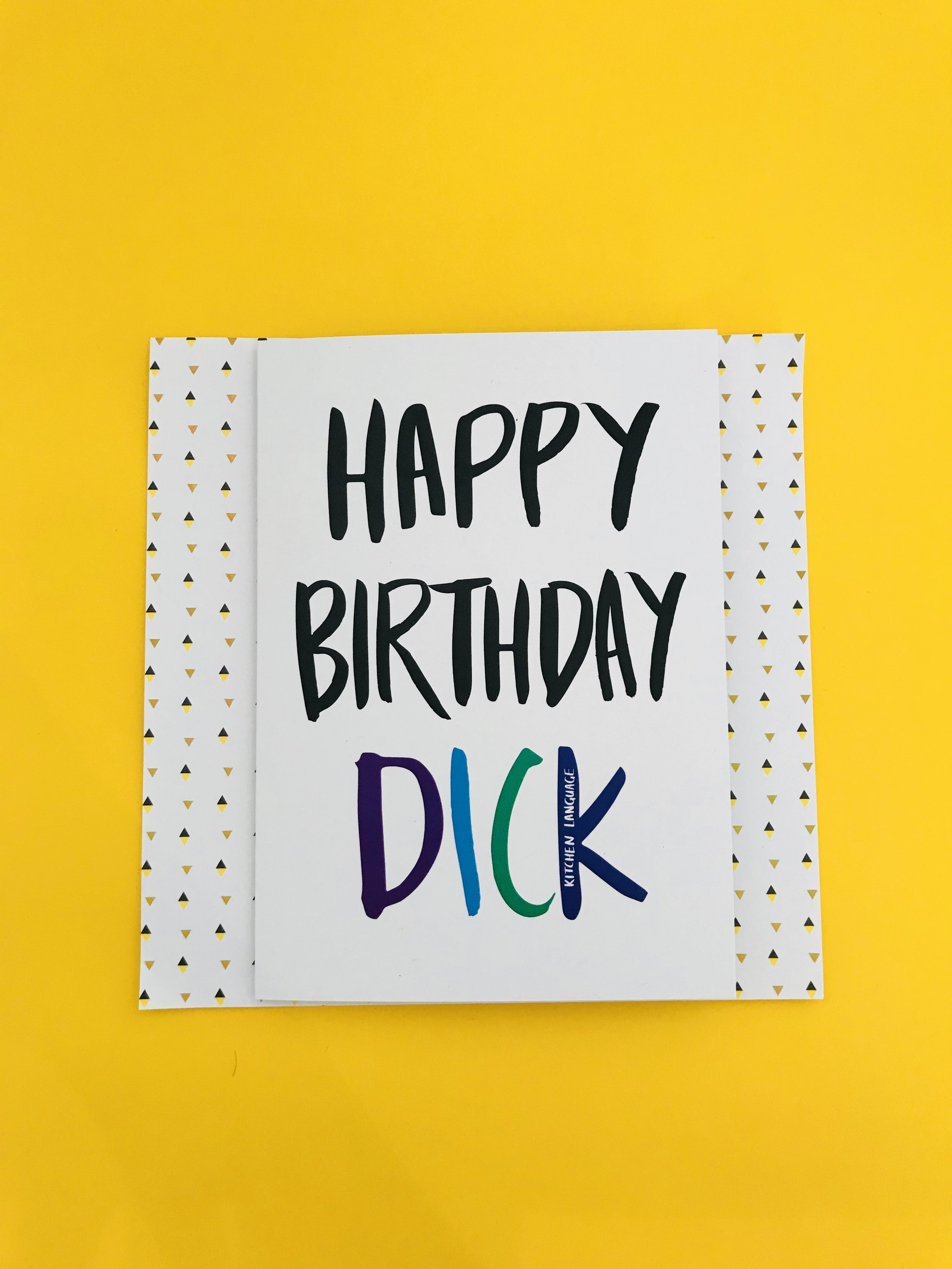 Happy birthday dick card kitchen language