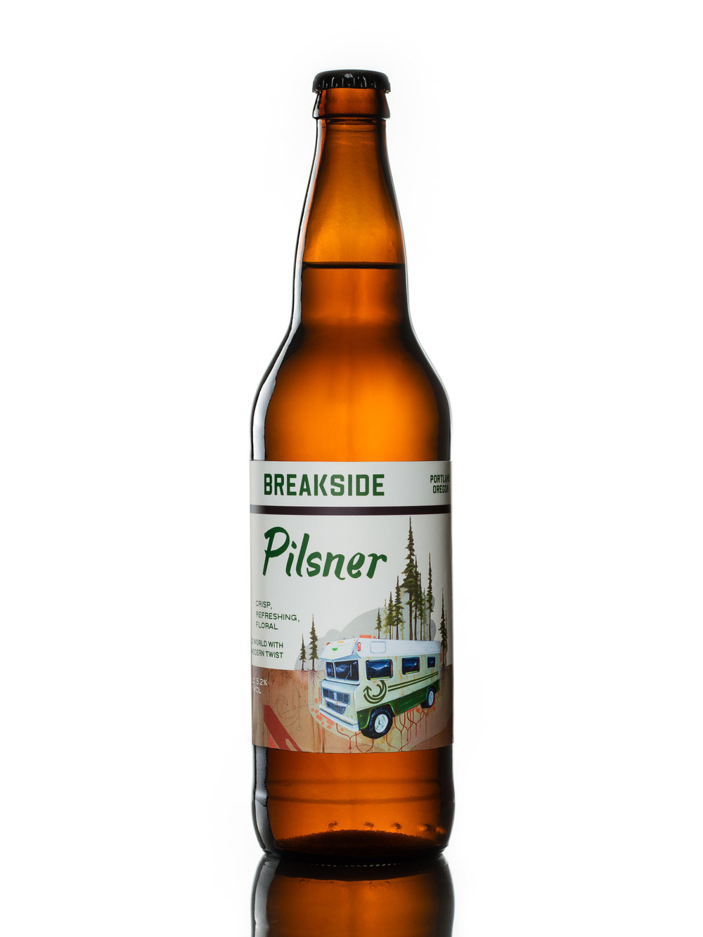 Product phototography example: beer bottle