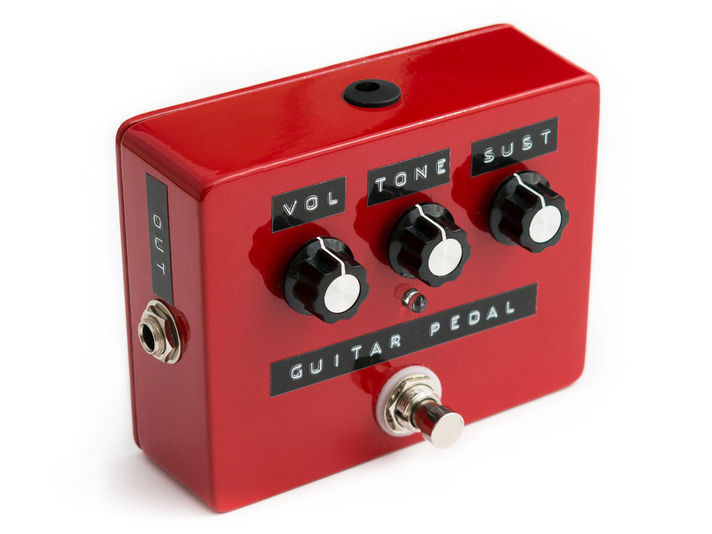 Product photography example: guitar pedal