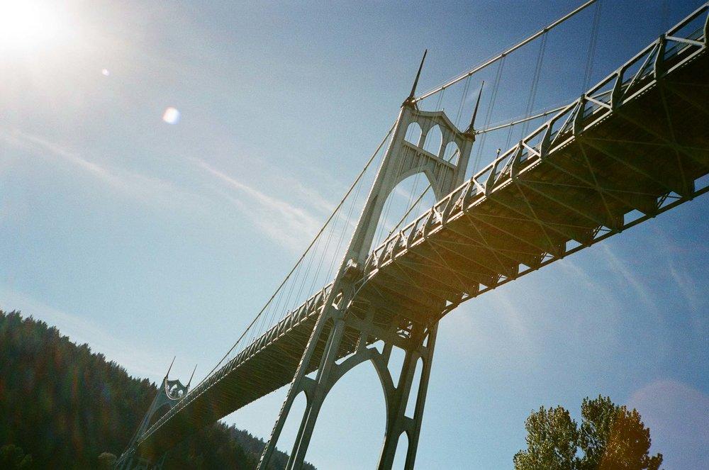 Photo of St. Johns Bridge, the tallest bridge in Portland, OR