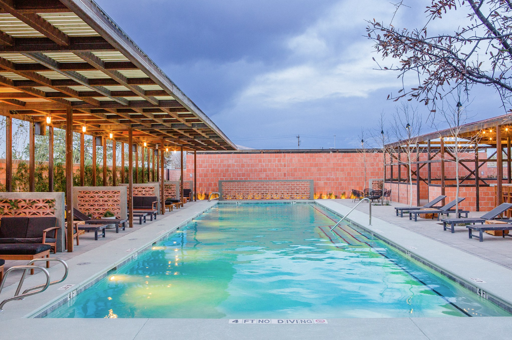 Bar Nadar Pool + Grill - walk across the street from yoga and head right over for swimming and food!!