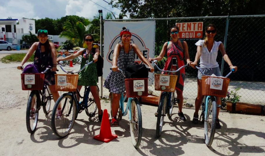 Easy to get around Tulum and to the sites via bikes!  www.olabiketulum.com