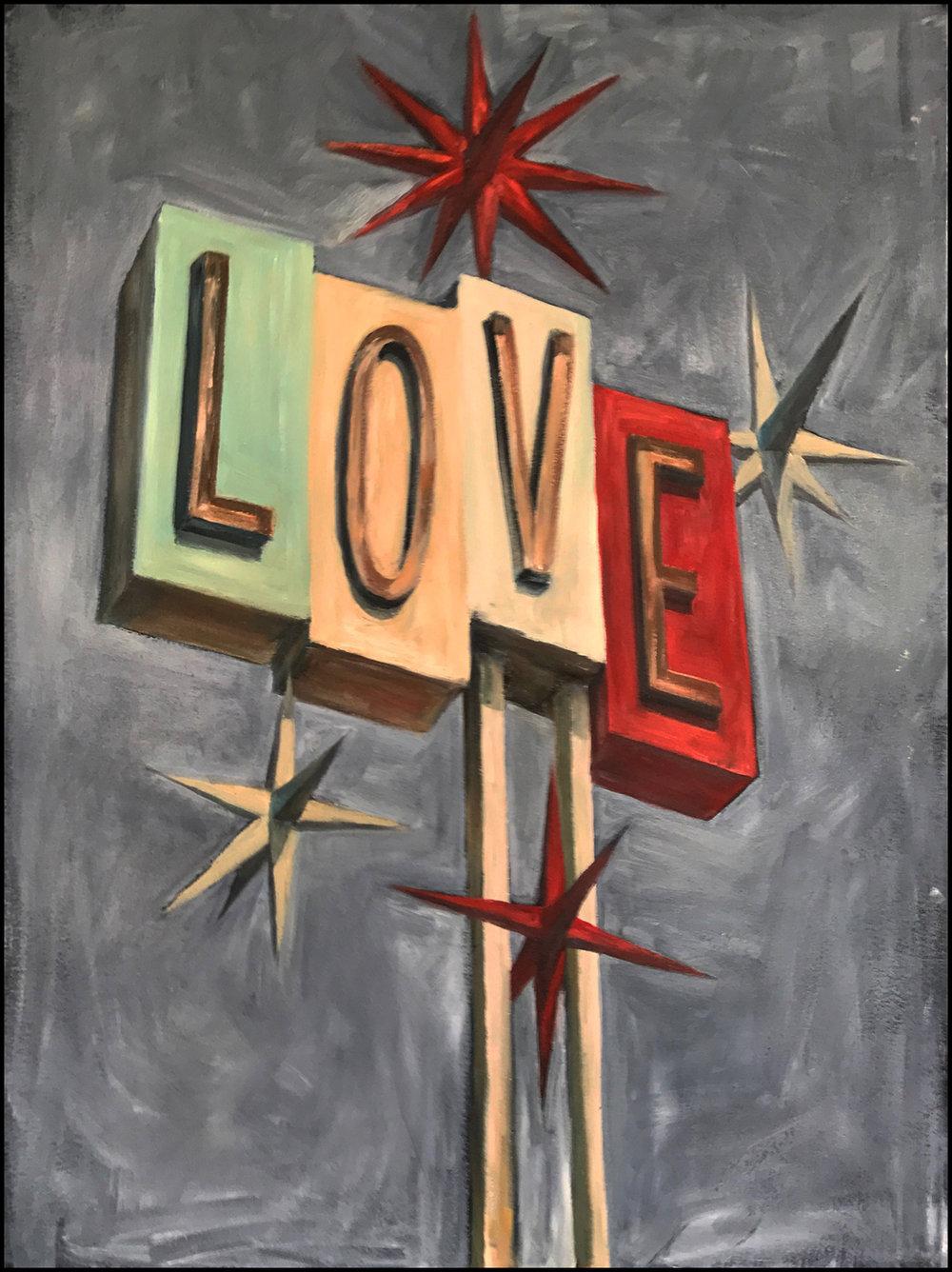 """LOVE  30"""" X 40"""""""