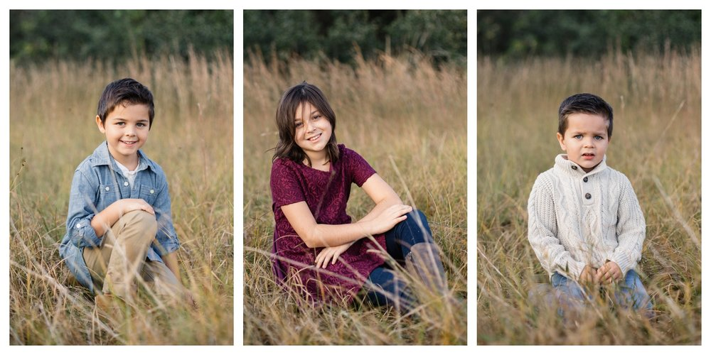 Three Kids in Field Orlando Family Photographer.jpg
