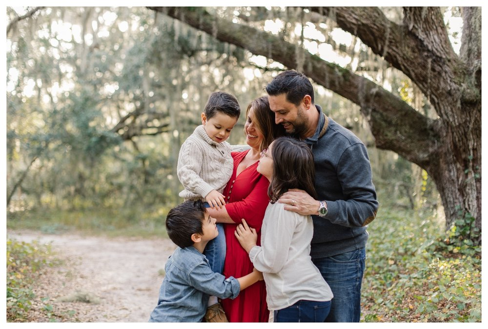 Candid Family Pose Under Oak Trees Orlando Lifestyle Photographer.jpg