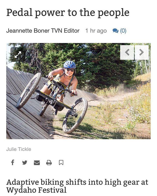 Thanks @tetonvalleynews for covering these incredible athletes!  #inclusion #wydahorendezvous #adaptivesports #dowhatyoulove #pushyourlimits #photography #getoutside #mountainbike #obozfootwear #wheretonext #adventureawaits