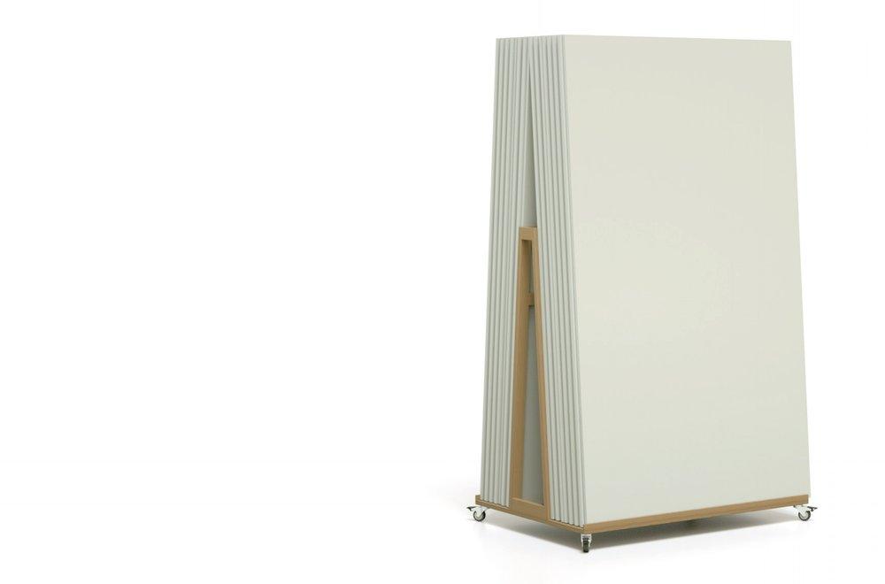 Studioboards mit Transportwagen für Meetingräume und Coworking Spaces