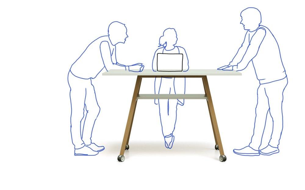 Produktivität und Konzentration in Meetings mit dem Studiotools Stehtisch fördern.