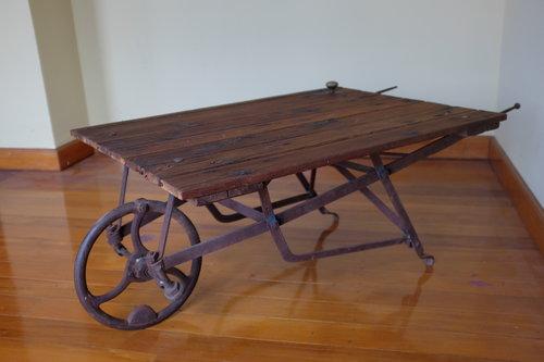 Wheelbarrow Coffee Table TK Reclaimed - Wheelbarrow coffee table