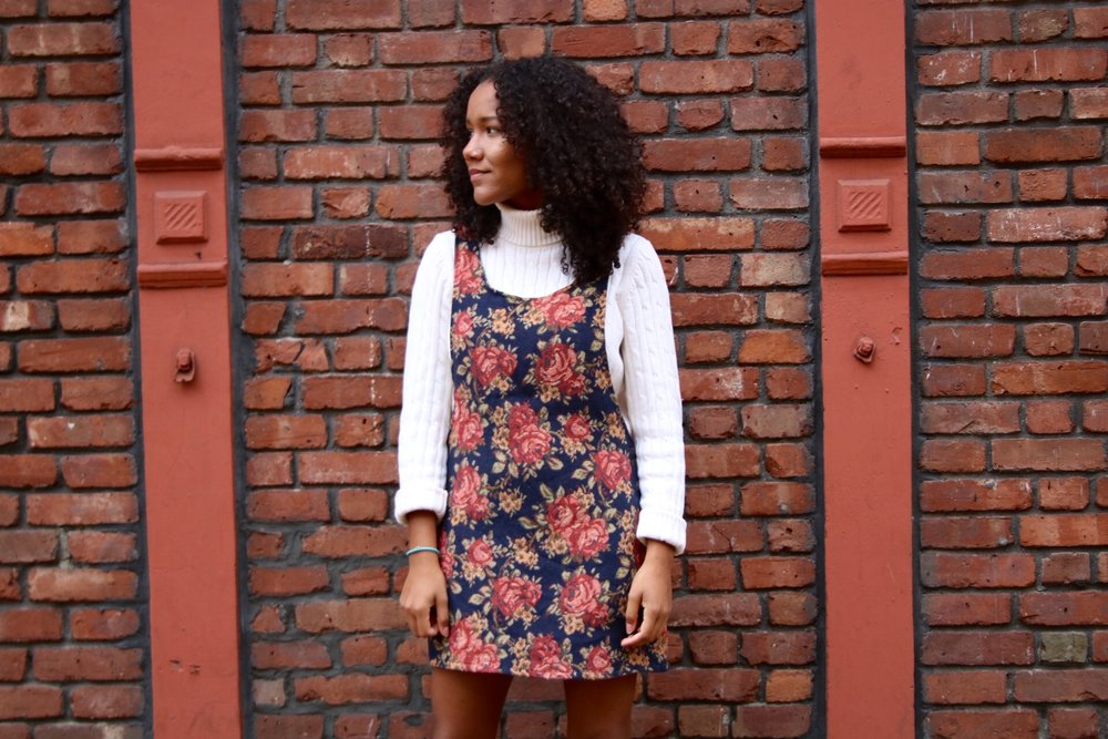 Overall: Installation Brooklyn; Turtle Neck: Loft Photographer: Brittany Barker