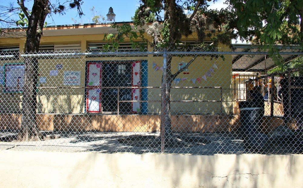 Arturo Lluveras, Childhood School, Yauco, PR