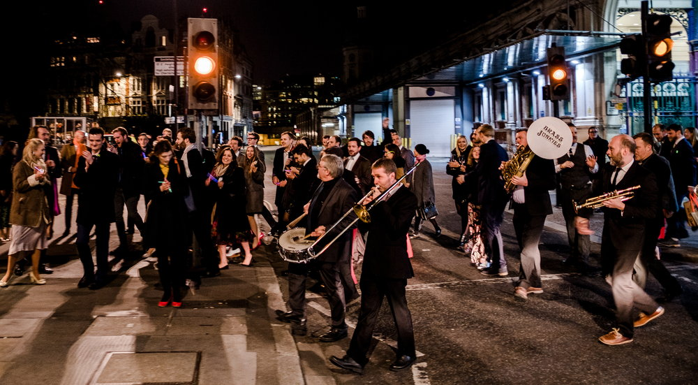 Brass Junkies on the move at London Wedding
