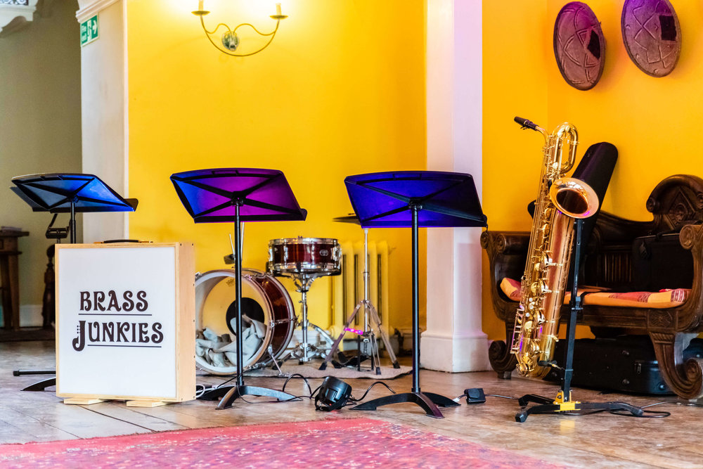 Brass Junkies Wedding Setup Yellow Room
