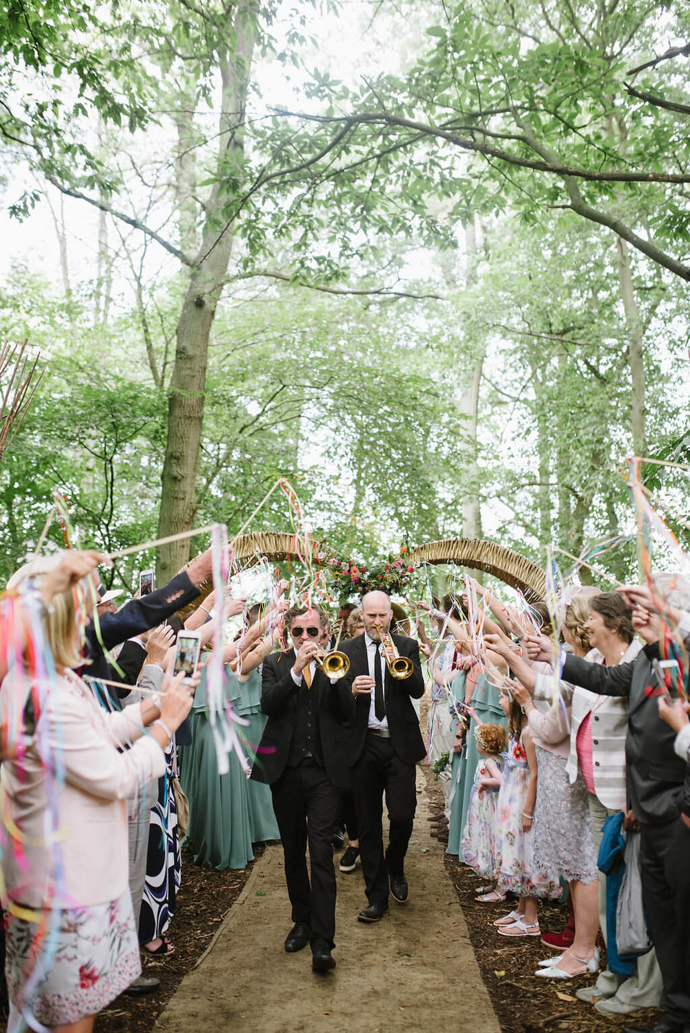 Brass Junkies Wand Tunnel Wedding