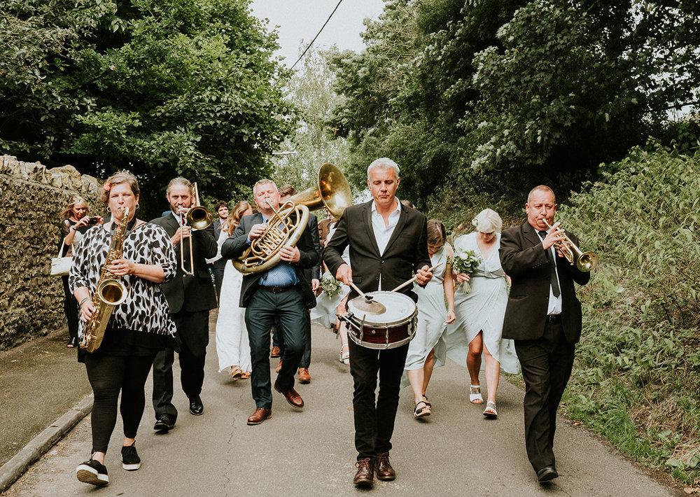 Brass junkies 5-piece parade