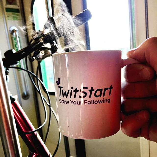Hot coffee ☕️ on the train 🚂 with my bike 🚴  Lots of meetings to cycle to today and a beautiful Friday for it! . . . .  #TwitStart #toronto #torontolife #torontolove #toronto_insta #social #socialmedia #socialmediamanagement #socialmediamarketing  #growth #twittergrowth #twitter #friday #tgif #bike #cycle #cycleto #coffee