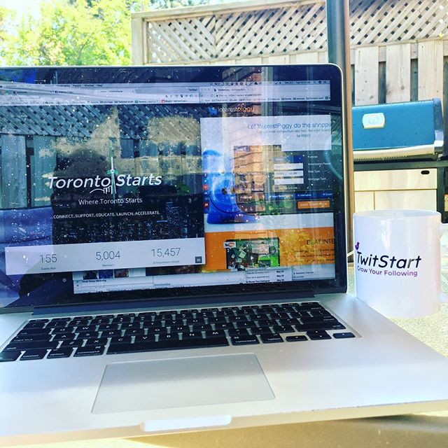 "Morning client conference calls taken from backyard office! Always makes me happy when the last thing the client says is ""we love it!"" After doing #analytics review #startup #entrepreneurlife #startuplife #startups #smallbusiness #smallbusinessmarketing #socialmedia #socialmediamanagement #❤️ #clients #growthhacking #marketing #marketingdigital #marketingonline #success #toronto #canada #torontolove #torontoevents #torontostartup #backyard #bbq #webergrill"