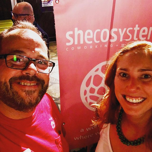Great seeing Emily founder of @shecosystem check out her new coworking and wellness space out #startupdrinks last night with @startuptor #Toronto #torontostartup #torontoevents #startup #startups #startuplife #startupevent #entrepreneur #entrepreneurlife #community #coaching #social #drinks #416 #the6 #thesix