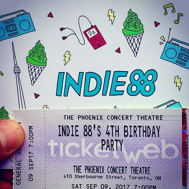 Looking forward to @indie88toronto 4th birthday party with @mothermothermusic @mattmaysmusic @thebeachesband & @coffeyandlungs  I will see you all there! Make sure you say hi! #Toronto #indie #music #thephoenixconcerttheatre #torontolife #torontolove #livemusic #happybirthday #concert #the6 #416