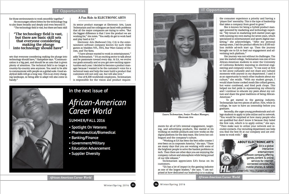 African-American Career World Magazine, February 2016