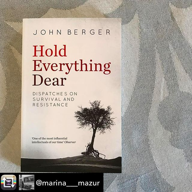 Repost from @marina___mazur -(inspiring reading for these dark times) Love this book #Currentlyreading #JohnBerger #essays on art as instruments for political resistance