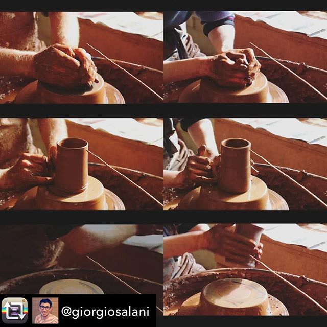 Repost from #craftreader @giorgiosalani using @RepostRegramApp - Scenes from the video I made for the exhibition 'Craftsmanship in not enough' currently at the Lethaby Gallery, London. The show celebrates 100 years of teaching ceramics at Central Saint Martins and I was very fortunate to be invited to exhibit my work. The video is a collage of material from my doctoral research on British pottery. I am exploring the physical qualities we appreciate in tableware made by hand on the potter's wheel by contemporary potters in the UK. Rather than merely reflecting on style, shape or decoration, I focus on the way the pots are made. I engage in ethnographic fieldwork and conduct video interviews which reveal the potters' interpretations of the own actions. I use videos to film them at work and collect detailed information on each action, gesture, 'hold' of fingers or technical choice. This is systematically coded and analysed, and the results are compared with current literature.  The videos are a pleasure to watch and never get boring. They are a constant source of inspiration. The process illustrated in the picture looked very similar at first sight, then I started to notice slight differences and tried to interpret them based on the data collected. This inspired some more questions for the potters, and more analysis. In the end I could identify the origin of subtle differences in the potters' training and personal approaches.  #pottery #ceramics #ceramic #clay #maker #craft #craftsmanship #handmade #craft #artisanal #traditional #research #designresearch #craftresearch #PhD #ual #csm #ethnography #practicebased #analysis @csm_news @csm_bacd @lethabygallery