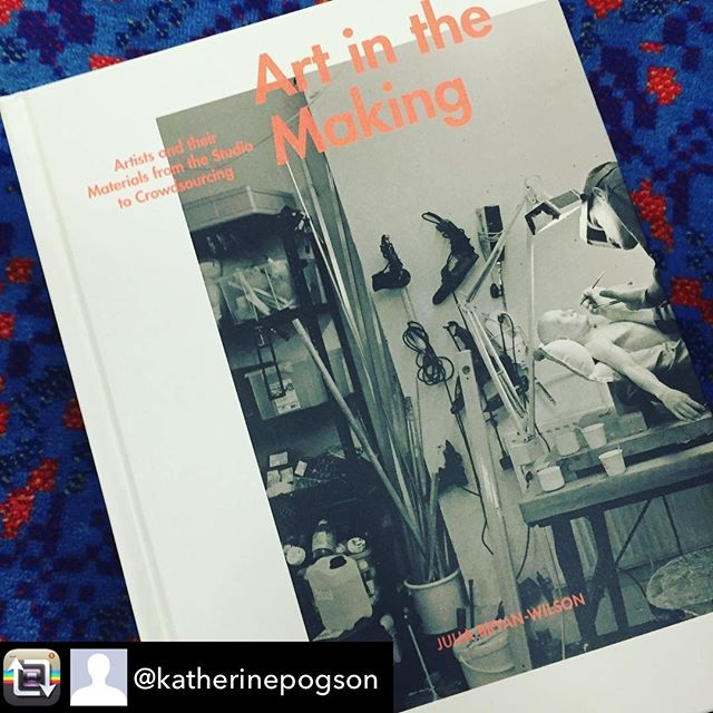 "'Fabrication'. The subject of our recent reading group meeting was Chapter 7 of Art in the Making: Repost from @katherinepogson using @RepostRegramApp - An explosion of art production, partly fuelled by technology has given rise to ""strategies of distributed authorship"" at odds with our notion of 'the artist's touch'. Looking forward to getting stuck into #artinthemaking after stimulating @craftscouncil #craftbookclub interview with @glenn_adamson last night. He suggests that 'the production of art defines our moment', ""A lot of artists work in the medium of other people's labour"" Is it time to start ""giving full credit"" ?"
